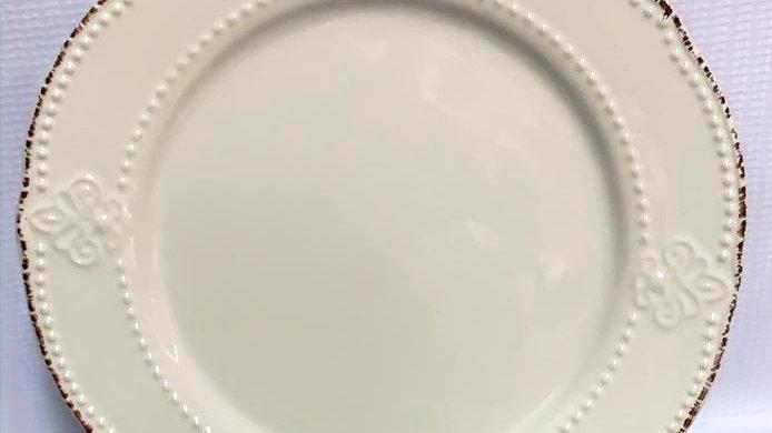 Plato pan beige flor de lis