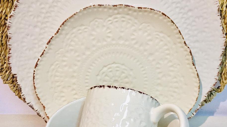 Set Piqué blanco (4 piezas)