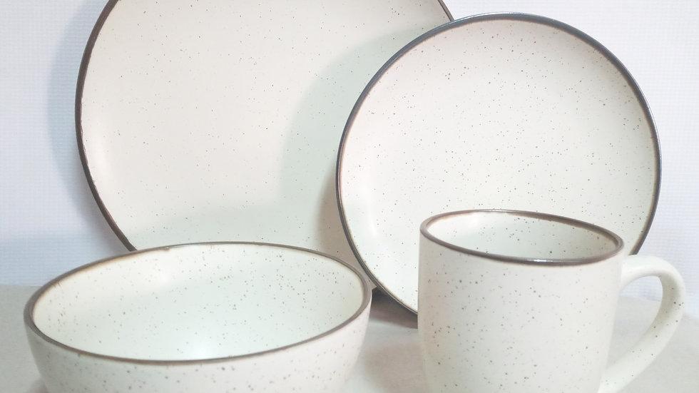 Set beige gratinado (4 piezas)