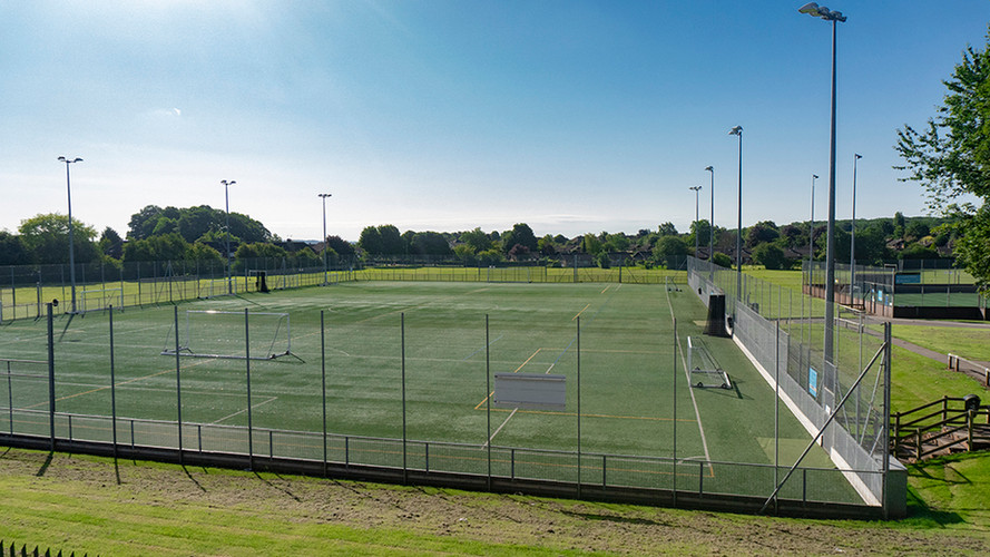 Large astro-turf pitches