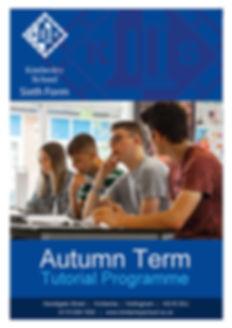 6th Form Tutorial Programme Autumn Term