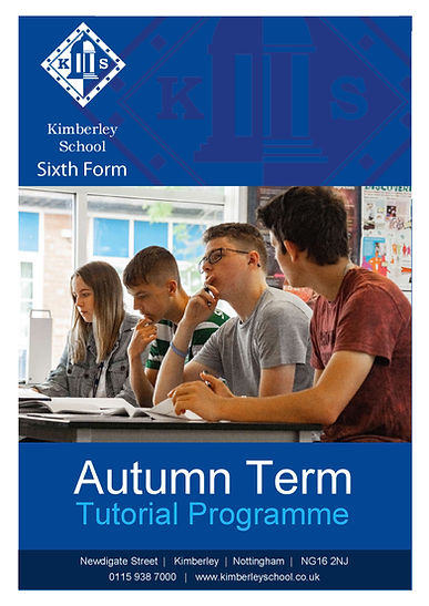6th Form Tutorial Programme Autumn Term