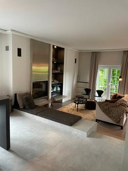 Salon et meuble Tv intégré
