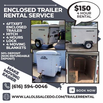 Enclosed Trailer Rental Service
