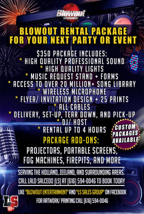 DJ Packages Starting at $350 and UP