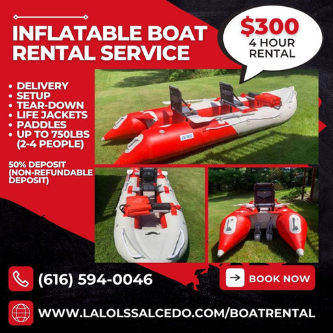 Inflatable Boat Rental Service