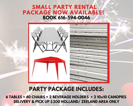 Small Party Package Rental