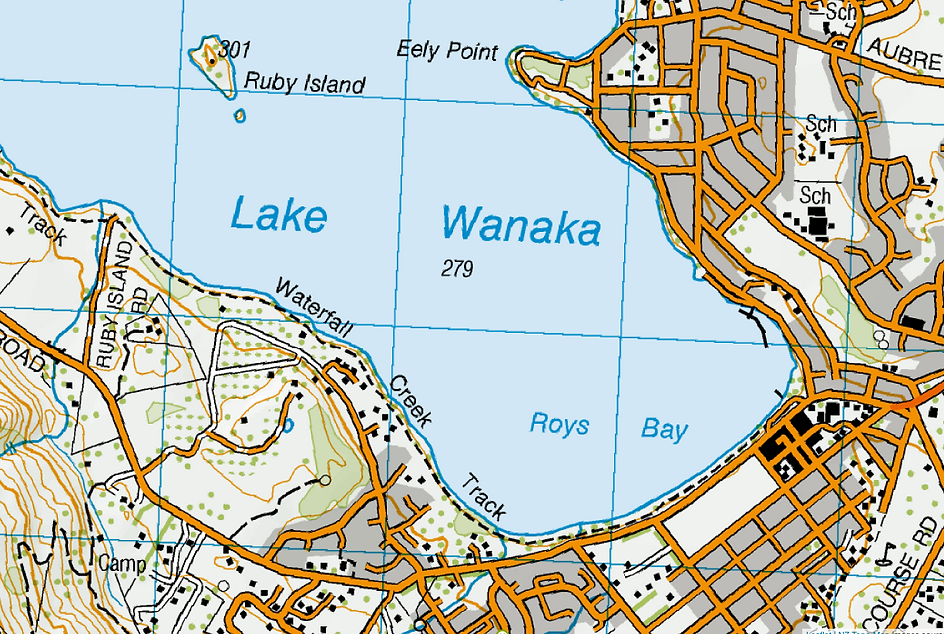 Wanaka Town to Waterfall Creek