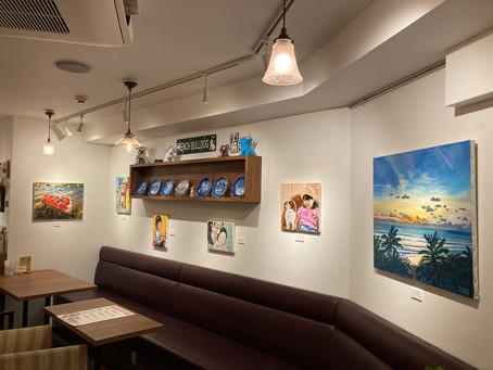 今年もカフェ・オレオで展示します。