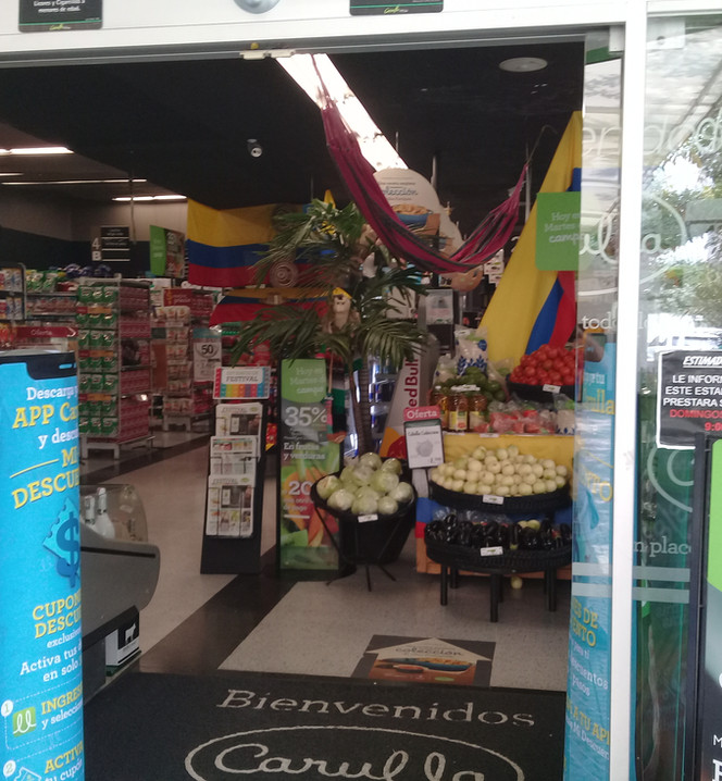 Local supermarket entrance