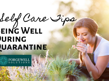 Self Care Tips: Being Well During Quarantine with Kat Frumin, LICSW