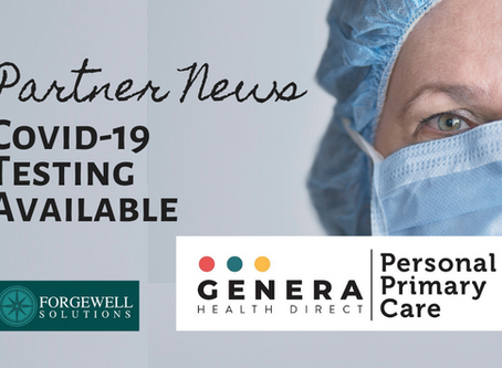 Covid-19 Testing Available Through Our Partner: Genera Health Direct