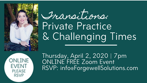 Free Event for MA Mental Health Professionals: Transitions: Private Practice & Challenging Times