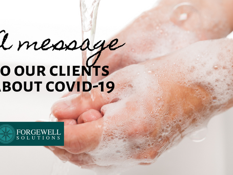 A message to our clients about COVID-19
