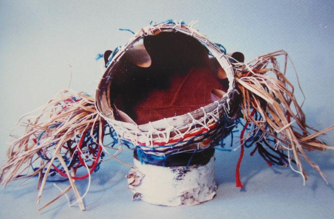 Pulled-Warp Leaf Basket