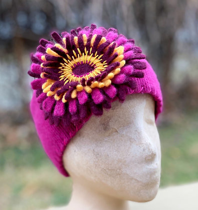 Cashmere Headband and Pin