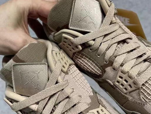 IMAGES OF ALEALI MAY'S CAMOUFLAGE AIR JORDAN 4 SURFACE