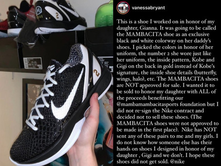 """Vanessa Bryant calls out Nike on Instagram over """"Mambacita"""" shoes"""