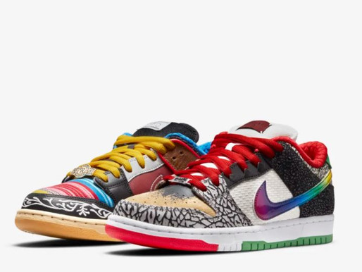 The make up of the Nike SB Dunk Low What The Paul.