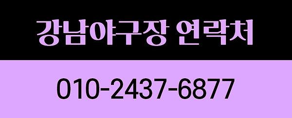 강남야구장 연락처