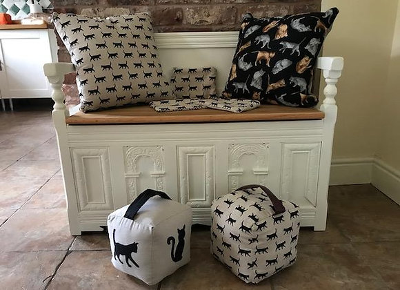 Cushions, Doorstops, Makeup bags or Pencil cases
