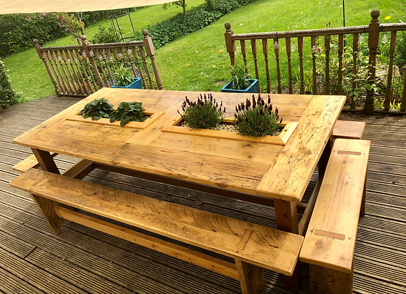 Bespoke Large Outdoor Rustic Family Table