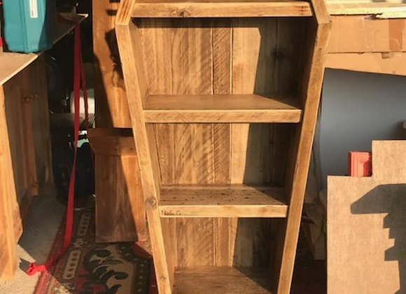 Bespoke wooden coffin bookcase
