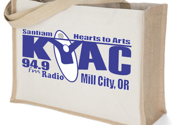 Large canvas/burlapTote bag.