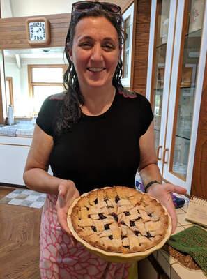 Blueberry Pie in the summer