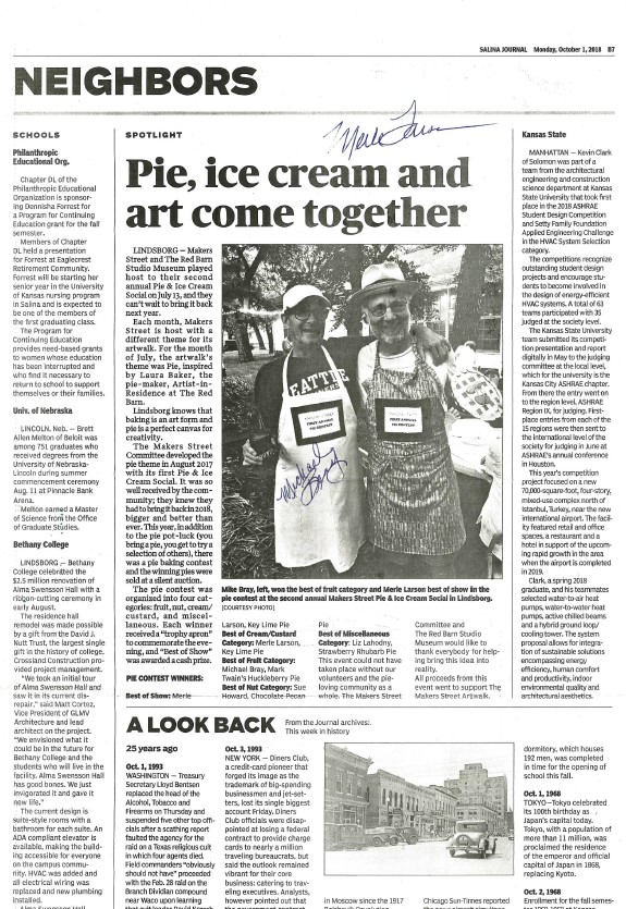 Salina Journal - Pie-luck winners