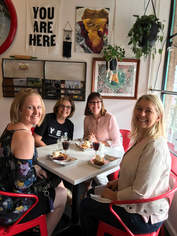 Pie and wine at Upper Crust bakery - Old Overland Park, Kansas
