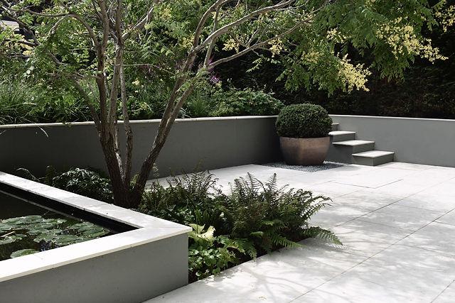 studio cullis quiet terrace with reflecting pond