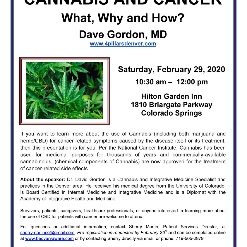 Cannabis and Cancer: What, Why, and How?