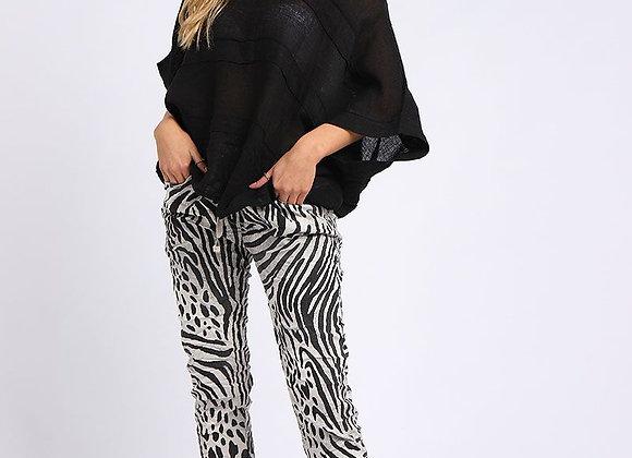 Zebra Print Women Magic Pant (Oatmeal)