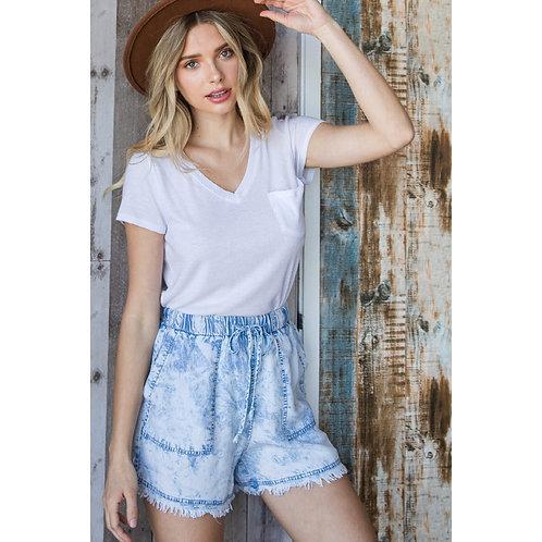Tencel pocket shorts