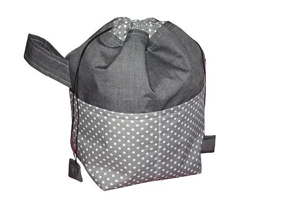 Grey Spotty Toiletry Bag