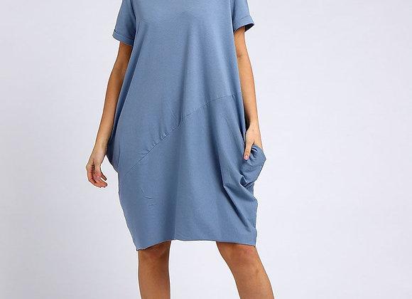Denim Cotton Cocoon Dress
