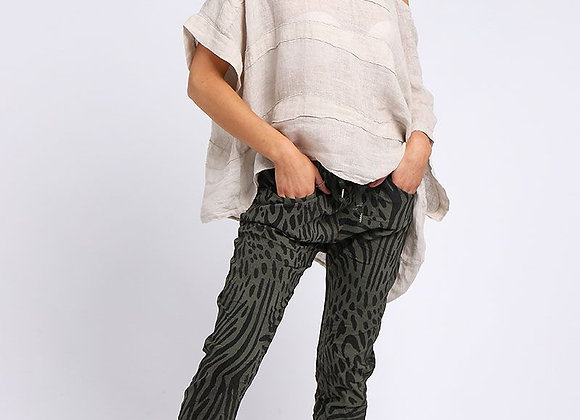 Zebra Print Women Magic Pant (Khaki)