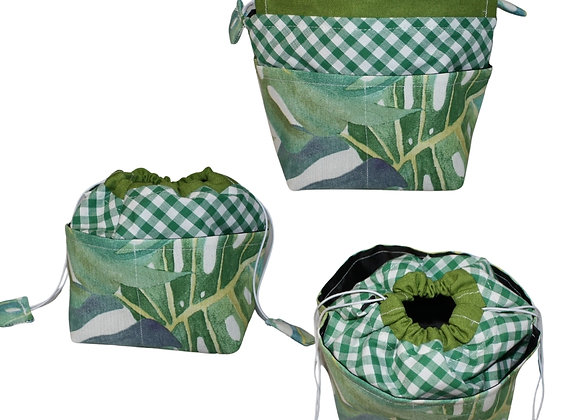 Palm Leaves Print Bitsy Bag
