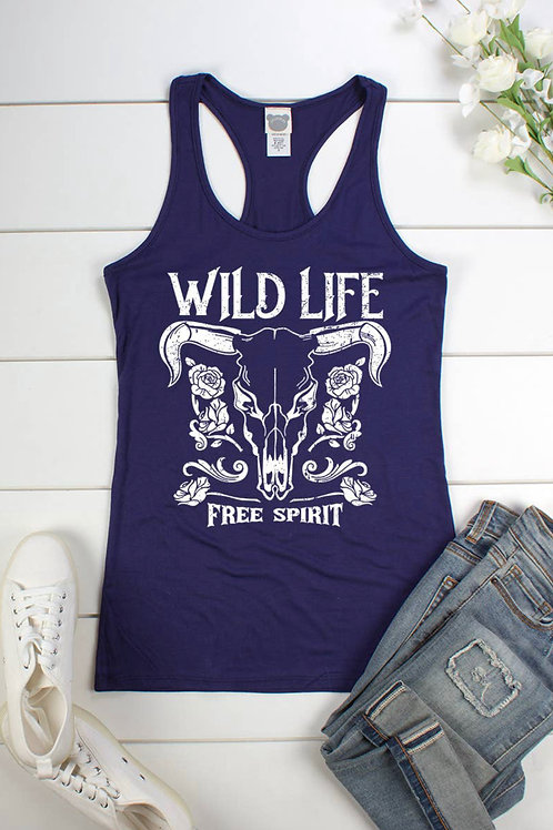 Wild Life, Free Spirit Vest Tank Top