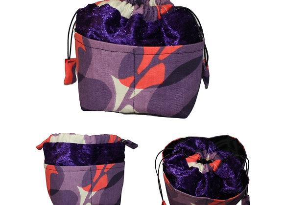 Purple & Red Print Bitsy Bag