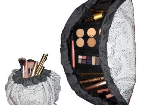 Silver Star Makeup Bag