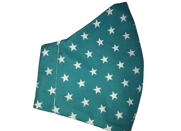 Teal Star Face Mask