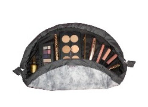 Grey Marble Sparkle Makeup Bag