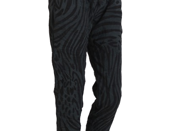 Zebra Print Women Magic Pant (Charcoal)
