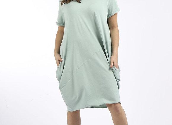 Cotton Classy Lagenlook Cocoon Dress in Tiffany