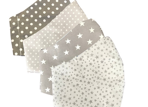 Spots & Stars Face Covering Set
