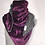 Thumbnail: Oversized Purple Velvet Scarf with Nose Wire & Ear Loops