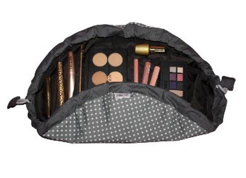 Grey Spotty Makeup Bag
