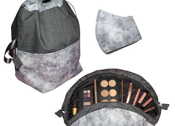 Grey Marbled Sparkle Gift Set